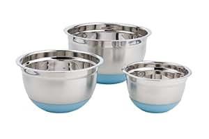 Paderno 3-Piece Mixing Bowl Set - Blue Base