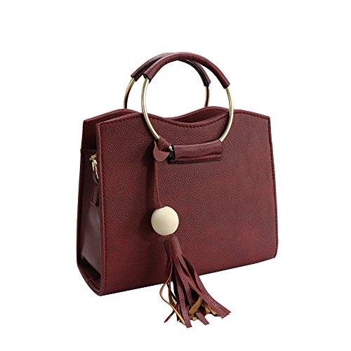 le Satchel a tracolla Borse Borsa mano Handle Borsa donne Top borse a Red delle tracolla per a donne axqw5