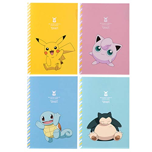Pocket Monster Pikachu Journals Diary Notebooks Set of 4]()