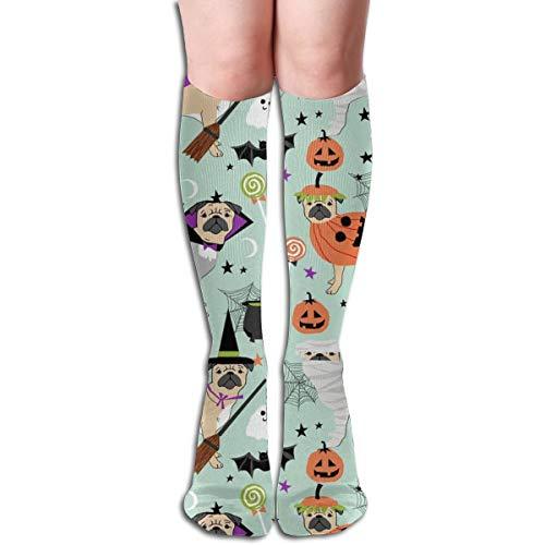 Pug Halloween Costume - Cute Dogs In Costumes Men's Women's Cotton Crew Athletic Sock Running Socks Soccer Socks 19.7 -