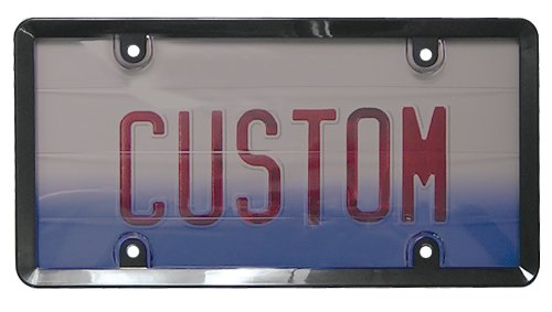 (Custom Accessories 90063 Smoke License Plate Protector and Frame)