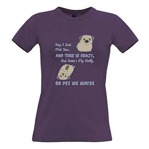 Tim and Ted Hey ho appena incontrato È Cute Dog Handdrawn divertente Slogan Love Logo Nerd T-Shirt Da Donna