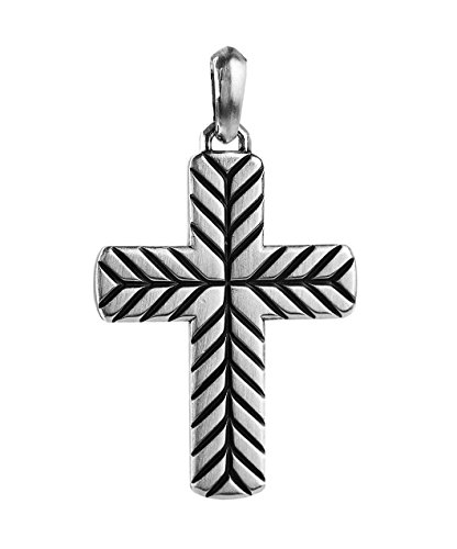 Yurman DAVID AMAZING SILVER 50 mm MODERN CHEVRON CROSS NO CHAIN 27T (David Cross Yurman)
