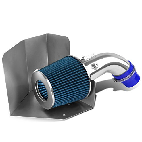 For Camry XV40 2.4L Aluminum Cold Air Intake Pipe + Blue Filter + Heat - Camry Cold Air Intake