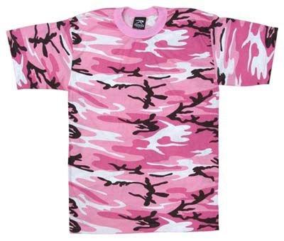 (Rothco Kids T-Shirt, Pink Camo, Large )