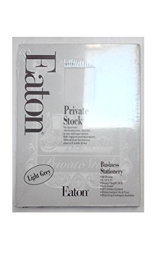 - Eaton 36-128-31 Private Stock Light Grey Business Stationery 8 1/2