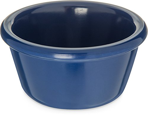 Carlisle S28560 Melamine Smooth Ramekin, 4 oz. Capacity, Cobalt (Case of 48)