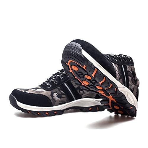 Seguridad Zapatos Puntera Qiusa Hombres Negro Eu Acero color Gran 42 Tamaño Para Negro Pinchazos Resistentes De qEwdwCB