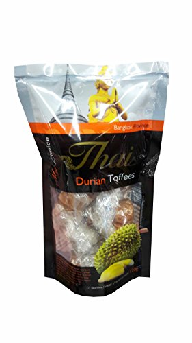 2 packs of Durian Toffees, Delicious fruit Snack from My Choice Thai brand, 4 or 5 strar OTOP rating approved. No artificial flavours, No artificial colours. (120 g/ (Making Halloween Drinks Smoke)