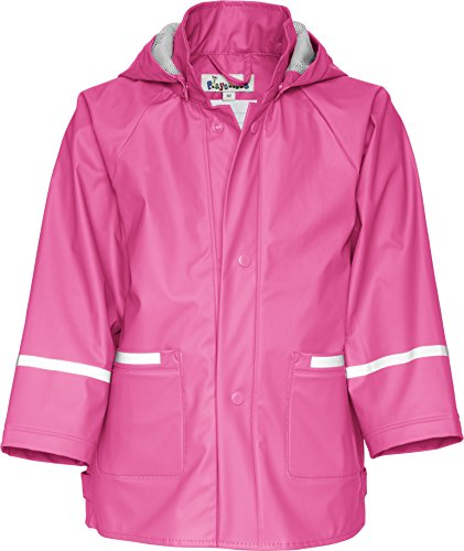 Playshoes Childrens Waterproof Reflective Rain Jacket (116 (5-6 Yr), Pink) (Reflective Coat Jacket)
