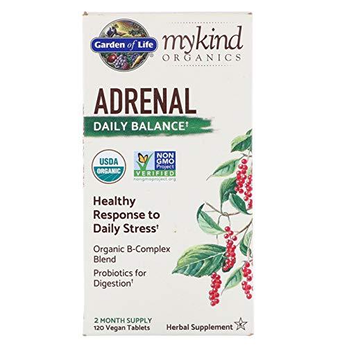 Garden of Life, MyKind Organics, Adrenal, Daily Balance, 120 Vegan Tablets ()