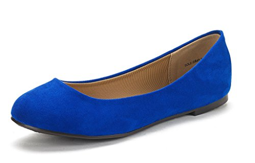 Walking Classic Sole DREAM Flats Solid Women's Royal Comfort Shoes Simple New Plain Design Blue Ballerina PAIRS n55SrPqawX