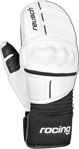 Reusch Racing Gloves - Reusch Snowsports World Champ Ski Mitten, White/Black, X-Small