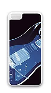 Hard Case Back Custom PC for iphone 5c Shell - Yellow Guitar