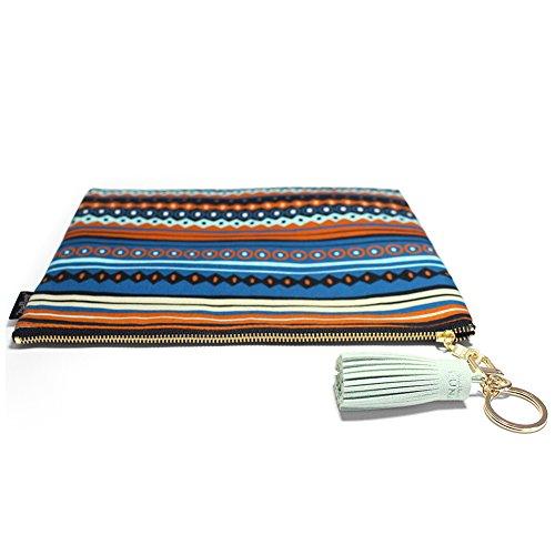 Fabric Tassel Mallangluna Indie Zipper Clutch Art Treasure Pww75qzxH