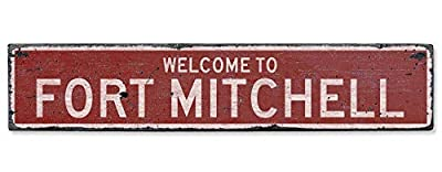 Welcome to Fort Mitchell - Vintage US Fort Mitchell, Kentucky Distressed Custom Wooden City Sign