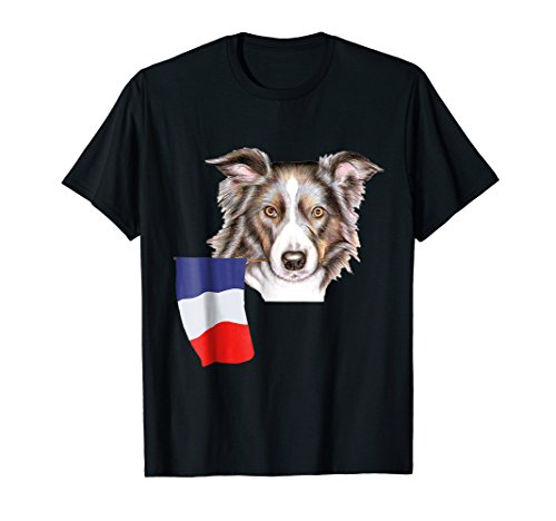 France Border Collie French Flag Pride Soccer Football (Boy French Borders)