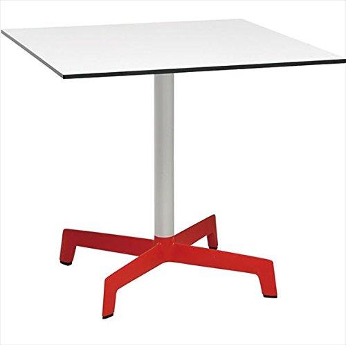 ニチエス D.d ディーディー スプートニクテーブル 80×80 / ホワイト天板+レッドベース B071R6Y261