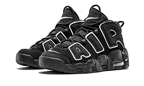NIKE AIR MORE UPTEMPO BLACK WHITE GS - 415082-002 - US Size