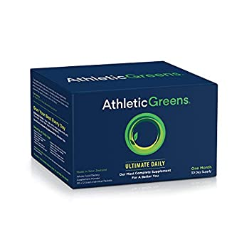 Image of Athletic Greens Ultimate Daily, Whole Food Sourced All in One Greens Supplement, Superfood Powder, Gluten Free, Vegan and Keto Friendly,Travel Packs (30 Individual Packs) Health and Household