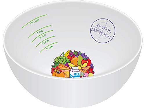 Portion Control Weight Loss Plan with 2 Melamine Portion Plates & Measuring Bowls Plus Portion Perfection International Book for Easy Weight Management - Weightloss for Women, Men and Children by Portion Perfection (Image #2)