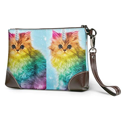 Rainbow Unicorn Cat Leather...