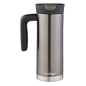 Contigo SnapSeal Superior Vacuum Insulated Stainless Steel Travel Mug, 20oz, Gunmetal