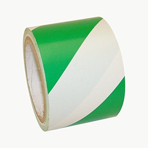 3/in X 18/yds. Verde con Rayas Blancas jvcc hz-8/Advertencia de Peligro cinta