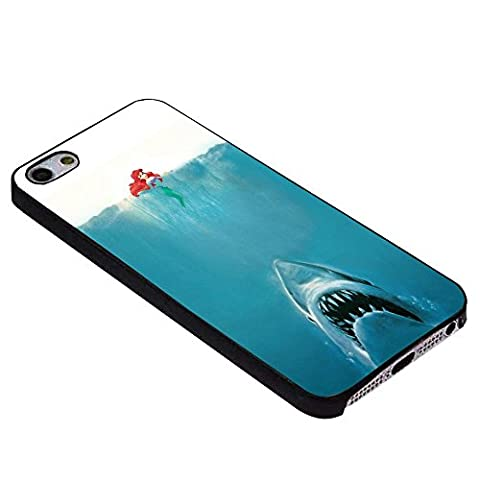parody jaws and ariel little mermaid For iPhone Case (iPhone 6S plus black) (Beatles Phone Case 5c)