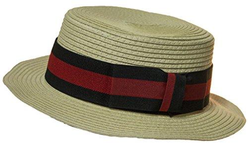 Men's 3.25 Inch Deluxe Barber Shop Quartet Skimmer Hat (Barbershop Costume)