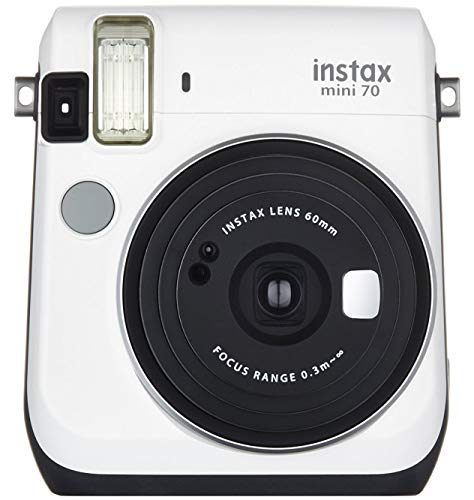 Fujifilm Instax Mini 70 -  Cámara Instantánea, color blanco (White Moon)