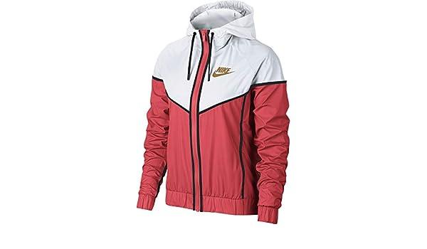 9a5fa3f34 Amazon.com: Nike Women's Woven Windrunner Windbreaker, Orange/White/Wheat  (Glow Orange/White. Wheat, Small): Clothing