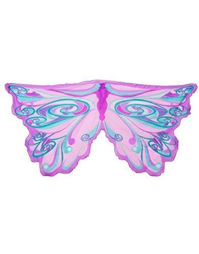 [Wings Fairy Rainbow Lavendar] (Fairy Godmother Costume Toddler)