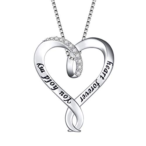 (925 Sterling Silver Open Heart Jewelry Engraved