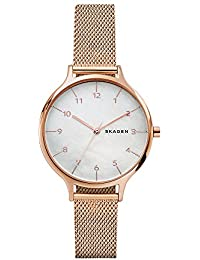Women's 'Anita' Quartz Stainless Steel Casual Watch, Color:Rose Gold-Toned (Model: SKW2633)