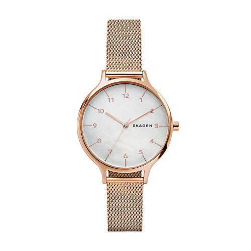 Skagen Women's 'Anita' Quartz Stainless Steel Casual Watch, Color:Rose Gold-Toned (Model: SKW2633)