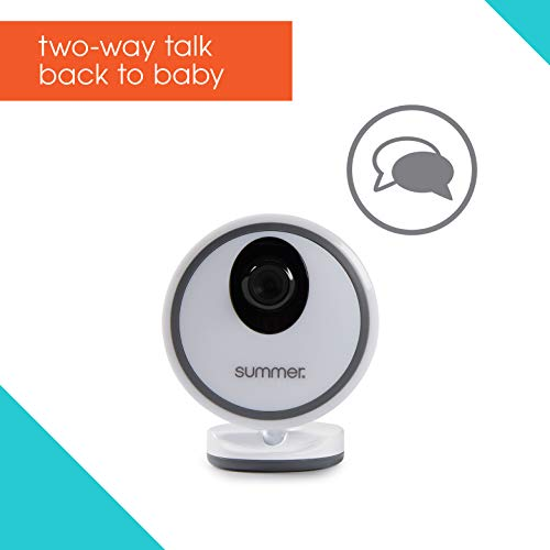 41ZrlUfiseL - Summer Glimpse Plus Video Baby Monitor With 3.5-inch Color LCD Video Display – Baby Video Monitor With Remote Digital Zoom, Two-Way Talkback And Voice-Activated Screen Wake Up
