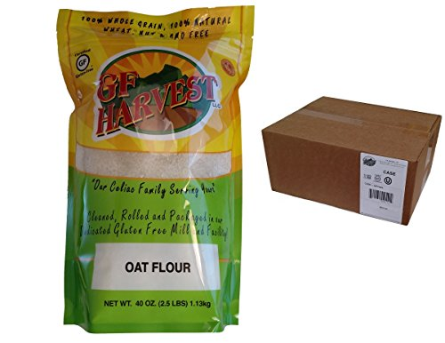 GF Harvest Gluten Free Whole Grain Oat Flour, 40 oz. Bag, 6 - Harvest Grain