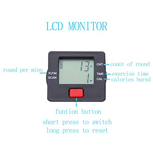 TODO Pedal Exerciser Foot Peddler Desk Bike Foldable with LCD Monitor by TODO (Image #1)