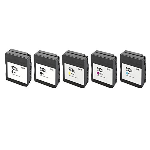Generic Compatible Ink Cartridge Replacement for HP 932XL ( Black,Cyan,Magenta,Yellow , 5-Pack )