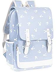 Leaper Cute Laptop Backpack for Kids Canvas Backpack Girls Daypack School Bag