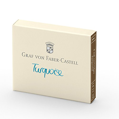 - Graf von Faber-Castell Ink Cartridges, Box of 6, Turquoise (FC141110)