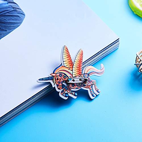 Emorias 1pc Belle Broche Accessoires de Mode Corsage D/élicate Broche Strass Unisexe Forme de Licorne Volante
