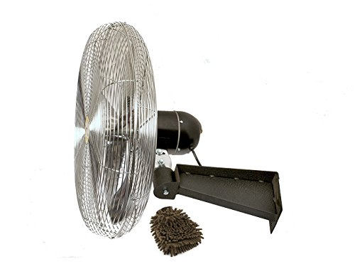 Airmaster 37145 Air Circulator 30 Inches Fan, Heavy-Duty, Wall Mount, Non-oscillating (Complete Set), with Bonus Premium Microfiber Cleaner Bundle