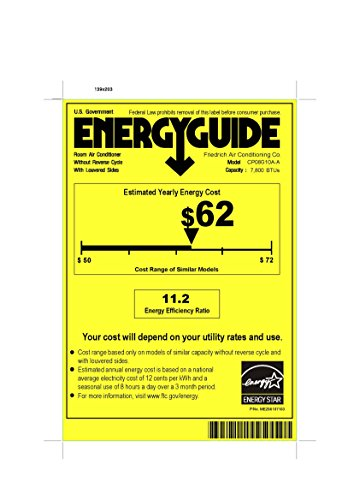FRIEDRICH 8000 BTU - ENERGY STAR CP08G10B Chill Series Room Air Conditioner