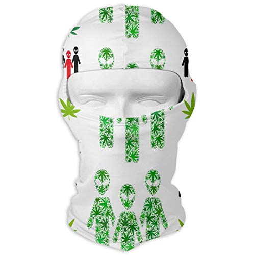 UV Protection Face Mask for Cycling Outdoor Sports Full Face Masks Alien of Weed Leaves Green Balaclava Hood Skullies -