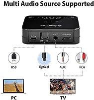 Avantree HT4189 40 Horas Auriculares Inalambricos TV con Transmisor Bluetooth, Casco para Television, Soporta Óptica, RCA, AUX de 3,5mm, USB de PC, Plug & Play, sin retardo, 30 Metros de Alcance: Amazon.es: