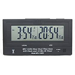 MFJ-148RC Radio-Controlled 24/12 Hour Dual clock