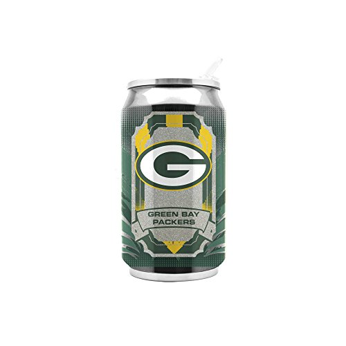 (NFL Green Bay Packers 16oz Double Wall Stainless Steel Thermocan )