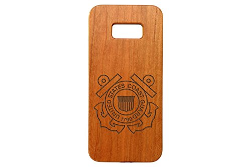 - for Samsung Galaxy S8 PLUS Bamboo Wood Phone Case NDZ United States Coast Guard Logo